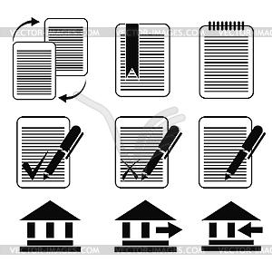 Set von Business-Icons - vektorisiertes Bild