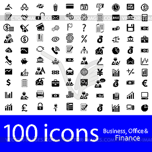 Icons - Business, Büro und Finanz - Clipart-Design
