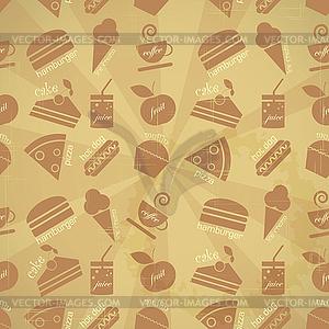 Essen nahtlose Hintergrund - Vektor-Clipart / Vektorgrafik
