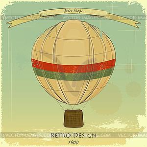 Klassiker Balloon Retro-Karte - Vektor-Clipart