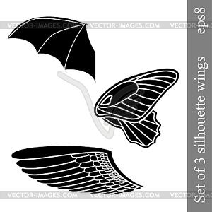 Set mit 3 Flügeln - Vektor-Illustration