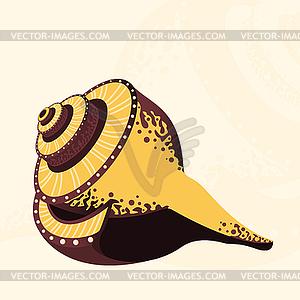 Meer-Muschel - Clipart-Bild
