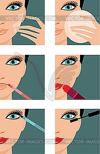 Make-up-Ikonen - vektorisiertes Design