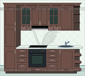 Küchenmöbel - Vektorabbildung