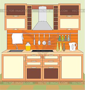 Küchenmöbel. Innen- - vektorisiertes Design
