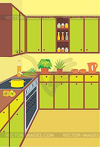 Küchenmöbel. Innen- - Stock Vektorgrafik