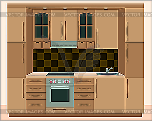 Küchenmöbel. Interiors - Vektorgrafik
