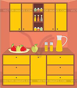 Küchenmöbel. Interior. - Vector-Clipart EPS