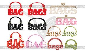 Wort der Tasche in Form von Logotypes - Royalty-Free Vektor-Clipart