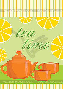 Menü für Tee - Vector-Clipart / Vektorgrafik