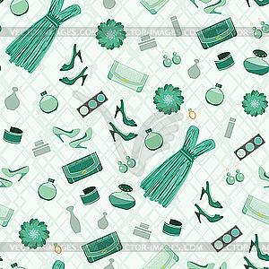 Nahtloses Mode-Muster - farbige Vektorgrafik