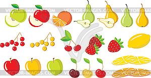 Set von Früchten - vektorisiertes Bild