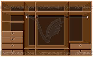 Begehbarer Schrank. Möbel - Vektor-Clipart / Vektorgrafik