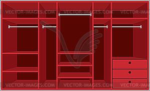 Begehbarer Schrank. Möbel - Vektor-Abbildung