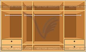 Begehbarer Schrank. Möbel - vektorisiertes Bild