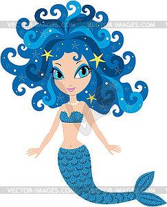 Mermaid Karikatur - Vektor-Bild