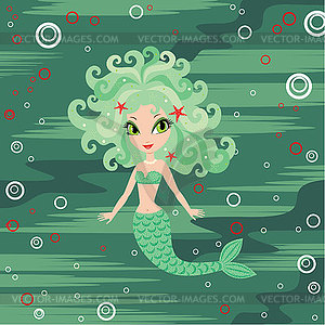 Cartoon Mermaid - Vector-Design