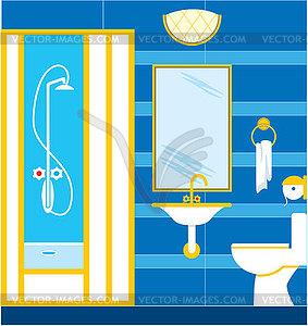 Badezimmer duschkabine vector clipart vektorgrafik for Badezimmer clipart