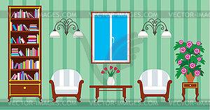 Wohnzimmer   Royalty Free Vektor Clipart