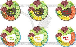 Teller mit Gemüse - vektorisierte Grafik
