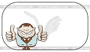 Geschäftsmann zeigt Daumen nach oben - Vector-Bild