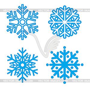 Schneeflocken-Symbol - Stock Vektor-Clipart