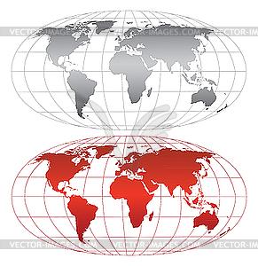 Weltkarte - Vektorgrafik
