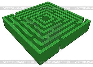 3D Labyrinth - vektorisierte Abbildung