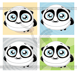 Cartoon Panda mit Bambus - Vector-Design