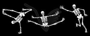 Aktive Skelette - vektorisiertes Clip-Art