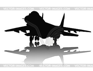 Aircraft Silhouette - vektorisiertes Clipart