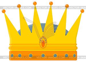 Goldene Königskrone - - vektorisiertes Design