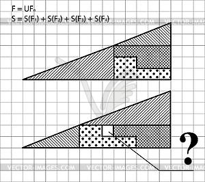 Geometrische Problem - Test für Intelligenz - Klipart