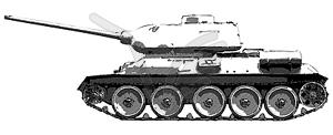 Russischen Panzer T 34 - Zeichnung - Stock Vektor-Clipart