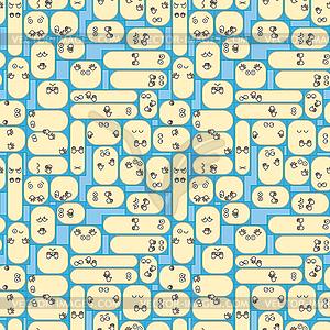 Die Bevölkerung in städtischen Wohnungen näher - Textur - Vektorabbildung