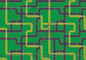 Straßenkarte - Hintergrund - Klipart