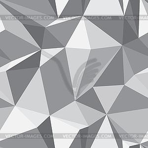 Nahtloses Diamanten-Muster - abstrakte Polygon-Textur - Vektor-Klipart