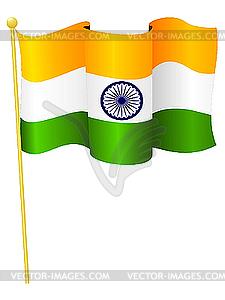 Nationalflagge von Indien - Vektorgrafik-Design