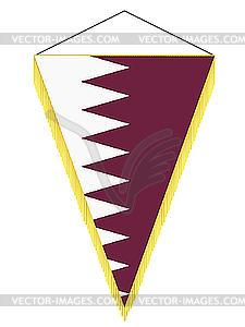 Wimpel mit der Nationalflagge von Katar - vektorisierte Abbildung
