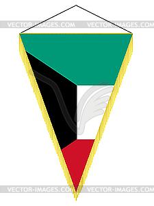 Wimpel mit der Nationalflagge von Kuwait - Royalty-Free Clipart