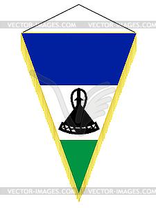 Wimpel mit der Nationalflagge von Lesotho - Vector-Bild