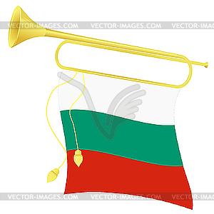 Signalhorn mit Flagge von Bulgarien - Vektor-Illustration