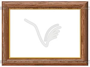 Holzrahmen mit Goldrand - Vector-Clipart EPS