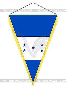 Wimpel mit der Nationalflagge von Honduras - Vektor-Clipart / Vektor-Bild