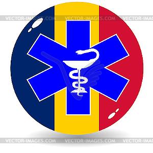 Anzeichen nationale Medizin von Rumänien - Royalty-Free Vektor-Clipart