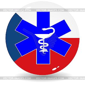 Zeichen der tschechischen nationalen Medizin - Stock-Clipart