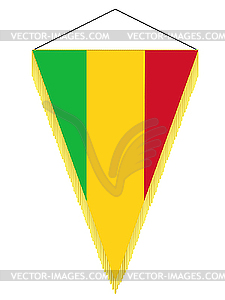 Wimpel mit der Nationalflagge von Mali - Vector-Illustration