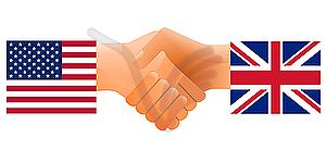 Zeichen der Freundschaft der Vereinigten Staaten und Großbritannien - Royalty-Free Vektor-Clipart