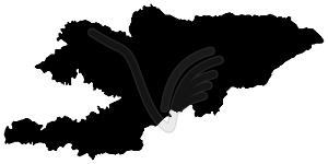 Landkarte von Kirgisistan - Vektorgrafik-Design