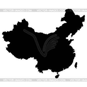 Landkarte von China - Vektor-Abbildung